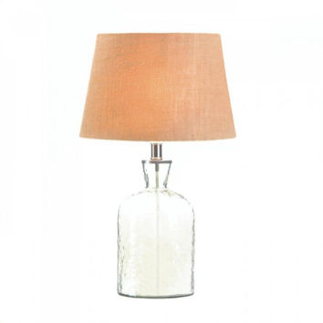 Hammered Glass Jug Lamp
