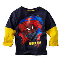 Spiderman Long Thermal Sleeve T-Shirt