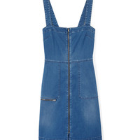 Stella McCartney Front Zip Denim Dress - Denim Jumper - ShopBAZAAR