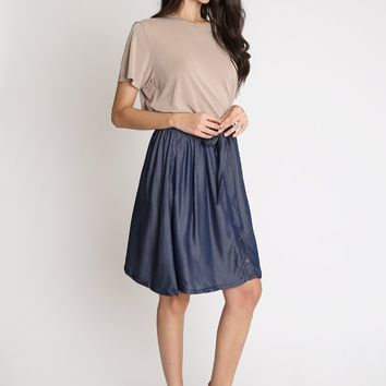 In The Dark Flared Skirt | Ruche