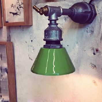 Loft industrial antique personalized water pipe wall sconce lamp lights for restaurant coffee bar coffee modern lighting fixture