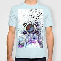 in to the sky, circuit board (south korea) T-shirt by seb mcnulty