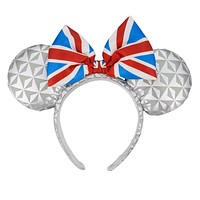Disney Parks Epcot United Kingdom Flag Minnie Mouse Ears Headband New with Tags