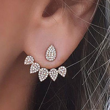 Personality Drop Earrings with Diamond