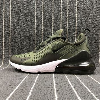 DCCKU62 Sale Nike Air Max 270 Army Green Sport Running Shoes AH8050-300