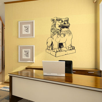 Vinyl Wall Decal Sticker Japanese Guardian Statue #1060