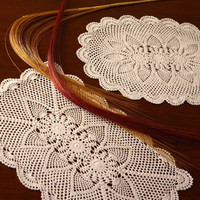 """Valentine Elite Placemats - Set of 4 Placemats- Collection- HANDMADE CROCHET PLACEMAT - Table Decor- 12 x 18"""" Inches"""