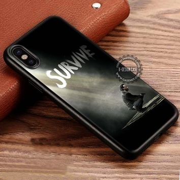 Survive Poster The Walking Dead iPhone X 8 7 Plus 6s Cases Samsung Galaxy S8 Plus S7 edge NOTE 8 Covers #iphoneX #SamsungS8