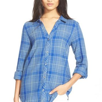 Women's Soft Joie 'Daina' Plaid Cotton Blouse,