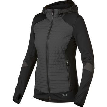 Oakley Attainment Fleece Hooded Jacket - Women's Jet Black,
