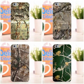 EJGROUP Soft Silicone TPU Transparent Case Protective For iPhone 4 4S 5 5S 5C SE 6 6S 7 8 X Plus Colorful Pink Realtree Camos