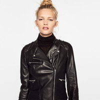 BIKER JACKET WITH ZIPSDETAILS