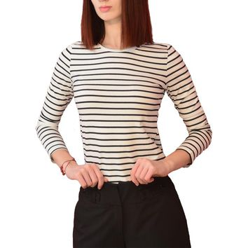 TRERONINAE Spring winter autumn Long sleeve striped undershirt women top sexy female cotton t shirt O-neck casual tee shirt