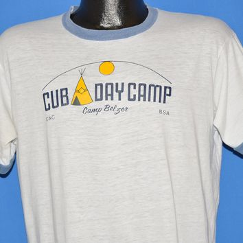 80s Cub Day Camp Boy Scouts Ringer t-shirt Large
