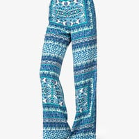Scarf Print Wide-Leg Pants