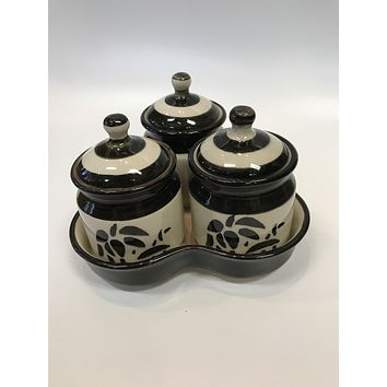 Khurja Pottery Jar Set