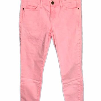 Current Elliott Jeans The Stiletto Bright Day Glow Pink Crop Stretch Womens 28 - Preowned