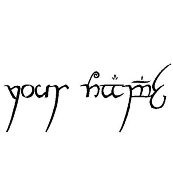 Customisable Elvish Script- your words in elvish temporary tattoo - LOTR - Lord of the Rings