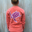 Bright Salmon Pocketed Wave Print