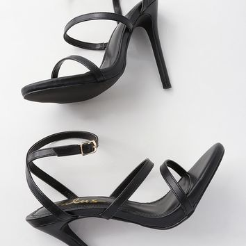 Selia Black Dress Sandals