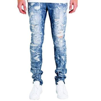 Embellish Nyc Erika Jeans In Blue - Beauty Ticks