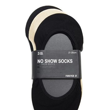No Show Socks - 3 Pack