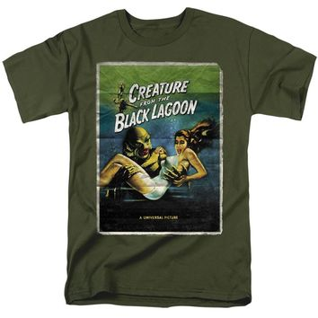 Creature from the Black Lagoon T-Shirt Movie Poster Military Tee