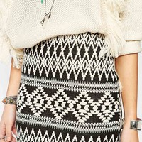 New Look Aztec Mini Skirt