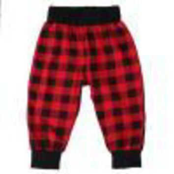 New Fashion Casual Newborn Infant Boys Girls Baby Bottoms Red Plaid Cotton Trousers Harem Pants Baby Boy Leggings 0-18M
