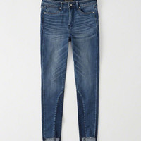 Womens High Rise Panel Super Skinny Jeans | Womens Bottoms | Abercrombie.com