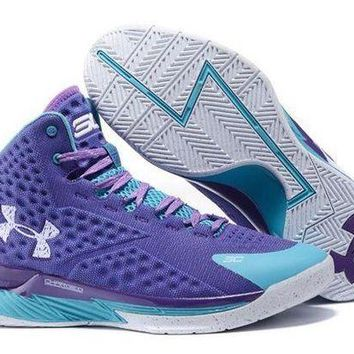 DCCKL8A Jacklish Under Armour Ua Curry One (1) Father To Son Purple Teal