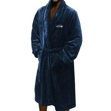 """Seattle Seahawks NFL 26""""x 47"""" Large/Extra Large Silk Touch Men's Bath Robe"""