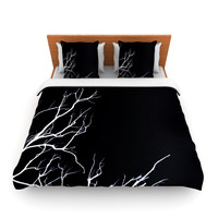 "Skye Zambrana ""Winter Black"" King Fleece Duvet Cover - Outlet Item"