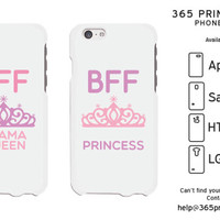 Queen & Princess Best Friend Matching Phone Cases - 365 Printing Inc