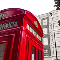 British Decor, Red London Photography, Red Telephone Box Home Decor, Art Photograph Print, 8x10