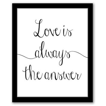 INSTANT DOWNLOAD, Love Is Always The Answer, Printable Art, Inspirational Wall Art, Motivational Quote, Home Decor Art, Living Room Art