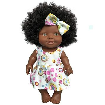 10 inch Baby Movable Joint African Doll Toy For Girls