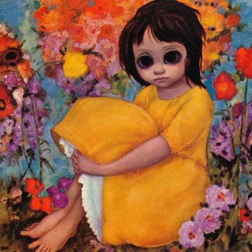 Big Eyes | Vintage Print Photo | 1964 IN THE GARDEN | Margaret Keane | Walter Keane