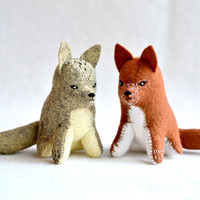 little red fox - soft sculpture animal