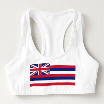 Women's Alo Sports Bra with flag of Hawaii