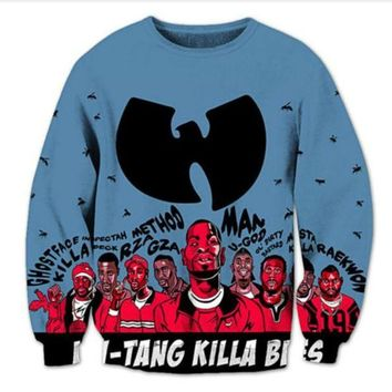 New Fashion Womens/Mens wu tang clan Funny 3D Print casual Long Sleeve Crewneck Sweatshirts WYXMB0001
