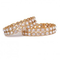 Crystal Studded Bangles - Bracelets - Accessories