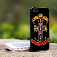 Guns and Roses logo cross - For iPhone 5 Black Case Cover