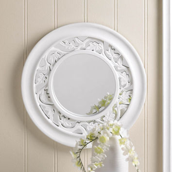 Bathroom Mirrors For Wall, Antique Wall Mirror,unique White Ivy Wall Mirror