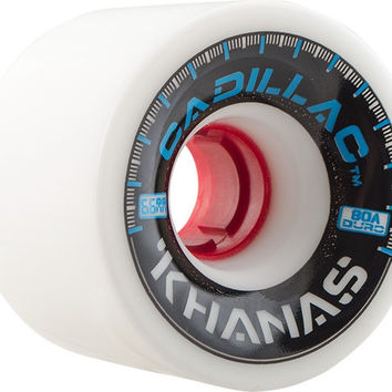 Cadillac Khana 66mm 80a White Longboard Wheels