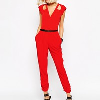 River Island Grace Cut Out Jumpsuit