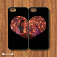 Tangled - iphone 5 Case or iPhone 4 case in pairs, with durable black or white plasic and silicone