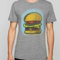 Junk Food Airbrush Hamburger Tee- Grey XXL