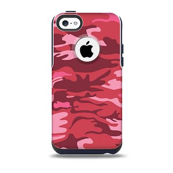 Pink and Red Tradtional Camouflage Skin for the iPhone 5c OtterBox Commuter Case