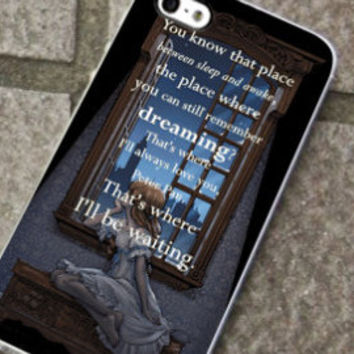 Wendy Wait Peter Pan Quote - for iPhone 4/4s/5/5c/5s, Samsung S3/S4 case cover